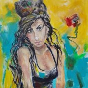 just a girl 60X50 Acryl auf Leinwand